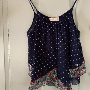 ABERCROMBIE & FITCH Floaty Polka Dot & Floral Top